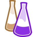 download Chemical Flasks clipart image with 180 hue color