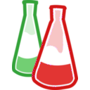 download Chemical Flasks clipart image with 270 hue color