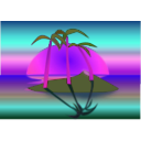 download Tree Palms At Sunset clipart image with 315 hue color