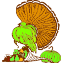 download Thanksgiving Turkey And Harvest clipart image with 45 hue color