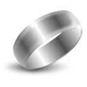 download Silver Ring clipart image with 315 hue color