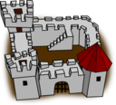 Ugly Non Perspective Cartoony Fort Fortress Stronghold Or Castle