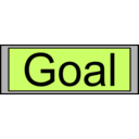 Digital Display With Goal Text