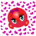 download Lover Girl Smiley Emoticon clipart image with 315 hue color