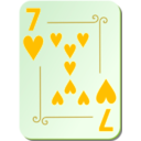 download Ornamental Deck 7 Of Hearts clipart image with 45 hue color