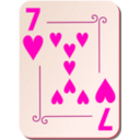 download Ornamental Deck 7 Of Hearts clipart image with 315 hue color