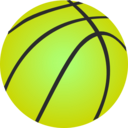 download Vector Basketball clipart image with 45 hue color