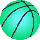download Vector Basketball clipart image with 135 hue color