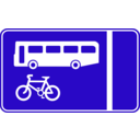 download Roadsign Bus Lane clipart image with 45 hue color