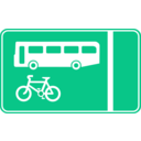 download Roadsign Bus Lane clipart image with 315 hue color