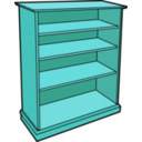 download Wooden Bookcase clipart image with 135 hue color