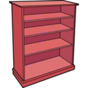 download Wooden Bookcase clipart image with 315 hue color