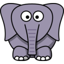 download Cartoon Elephant clipart image with 45 hue color