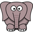 download Cartoon Elephant clipart image with 135 hue color