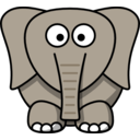 download Cartoon Elephant clipart image with 180 hue color