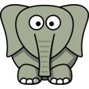 download Cartoon Elephant clipart image with 225 hue color