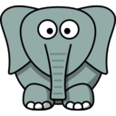 download Cartoon Elephant clipart image with 315 hue color