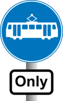 Roadsign Trams Ony