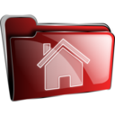 Folder Icon Red Home