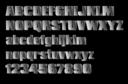 Silver Block Letters