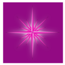 download Glowing Fantasy Star Cool clipart image with 315 hue color