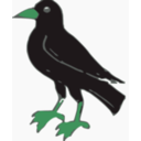 download Crow clipart image with 135 hue color