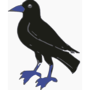 download Crow clipart image with 225 hue color