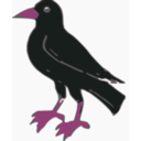 download Crow clipart image with 315 hue color
