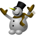 download Happy Snowman 2 clipart image with 45 hue color