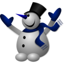 download Happy Snowman 2 clipart image with 225 hue color