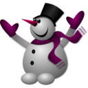 download Happy Snowman 2 clipart image with 315 hue color