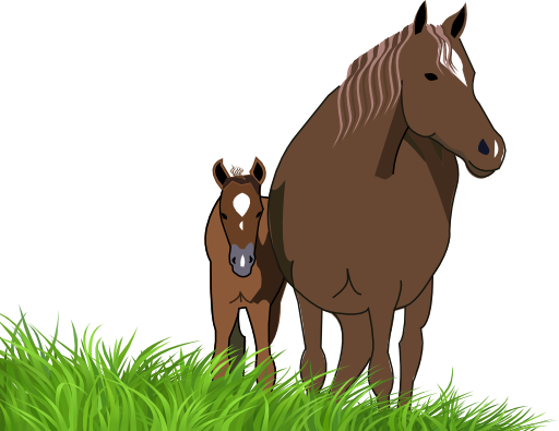 Mare and foal clipart i2clipart royalty free public for Clipart mare