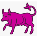 download Red Bull clipart image with 315 hue color