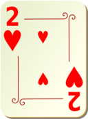 Ornamental Deck 2 Of Hearts
