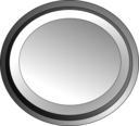 White Circle Button