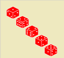 5 Red Dice