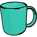 download Mug clipart image with 315 hue color