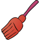 download Broom clipart image with 315 hue color