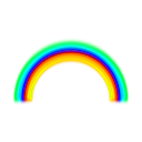 download Simple Rainbow With Blur clipart image with 135 hue color