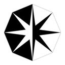 Inward Triangle Octogram Divided