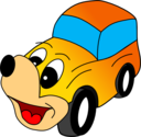 Comic Yellow Car