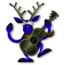 download Dancing Reindeer 1 clipart image with 45 hue color