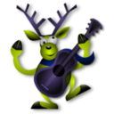 download Dancing Reindeer 1 clipart image with 225 hue color