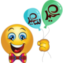 Boy Balloons Smiley Emoticon