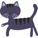 download Cat clipart image with 225 hue color