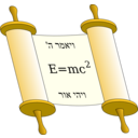 Tora Scroll With Einstein Equation