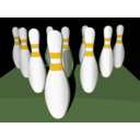 download Bowling Pins Shaded clipart image with 45 hue color