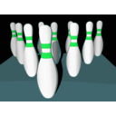 download Bowling Pins Shaded clipart image with 135 hue color