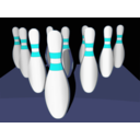 download Bowling Pins Shaded clipart image with 180 hue color