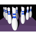 download Bowling Pins Shaded clipart image with 225 hue color
